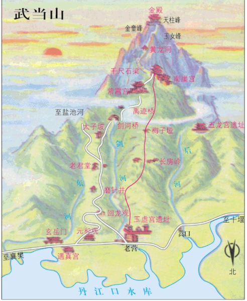 wudang map