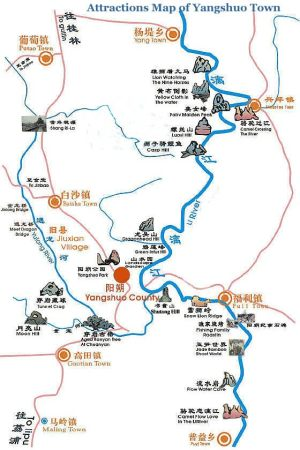 Attractions-Map-of-Yangshuo-Town